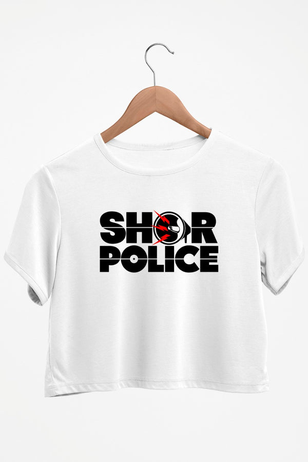 Shor Police White Crop Top