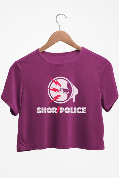 Shor Police Purple Crop Top