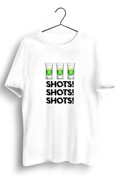 Shots! White Tshirt