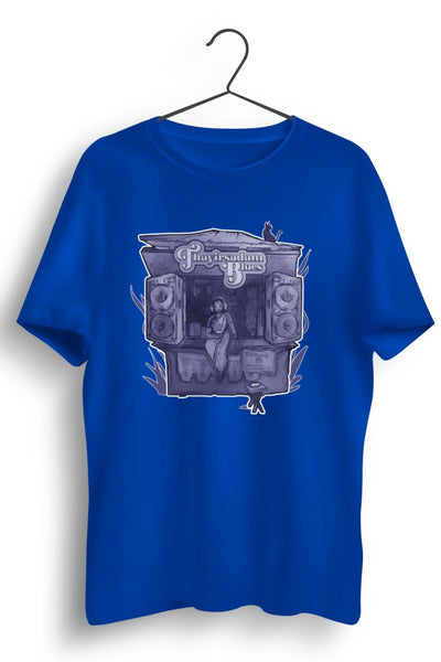 TSB purple logo Blue Tshirt