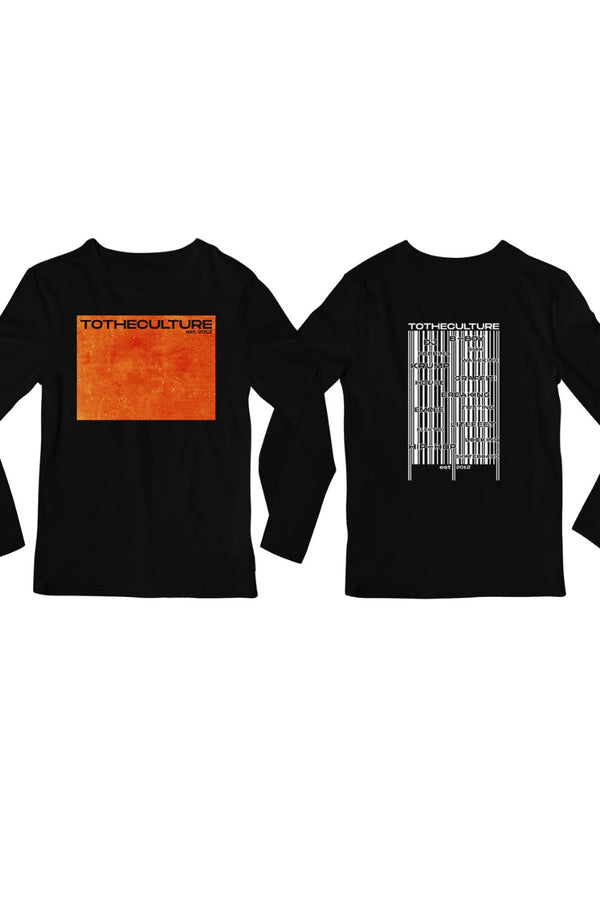 To the Culture Barcode Printed full sleeves Black Tshirt