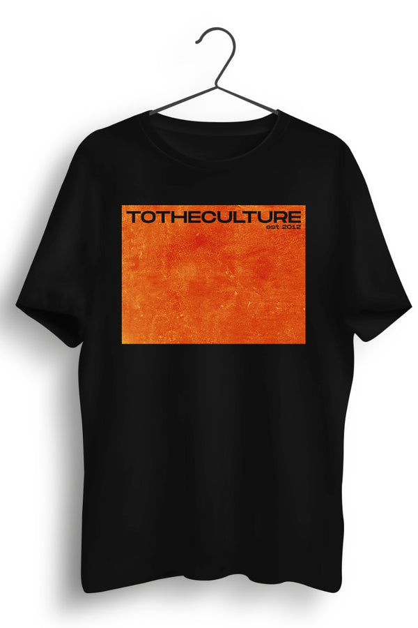 To the Culture Barcode Printed Black Tshirt
