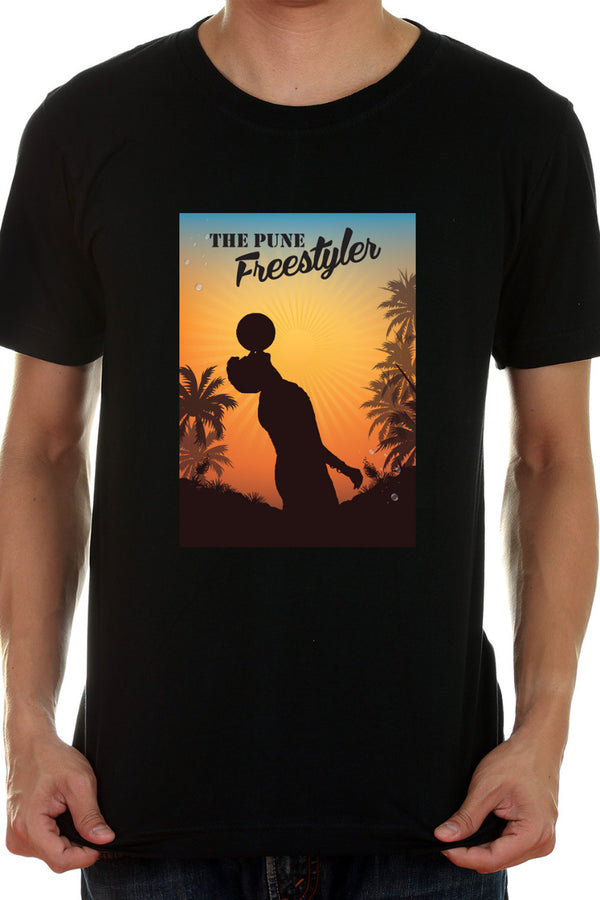 The Pune Freestyler Black Tshirt