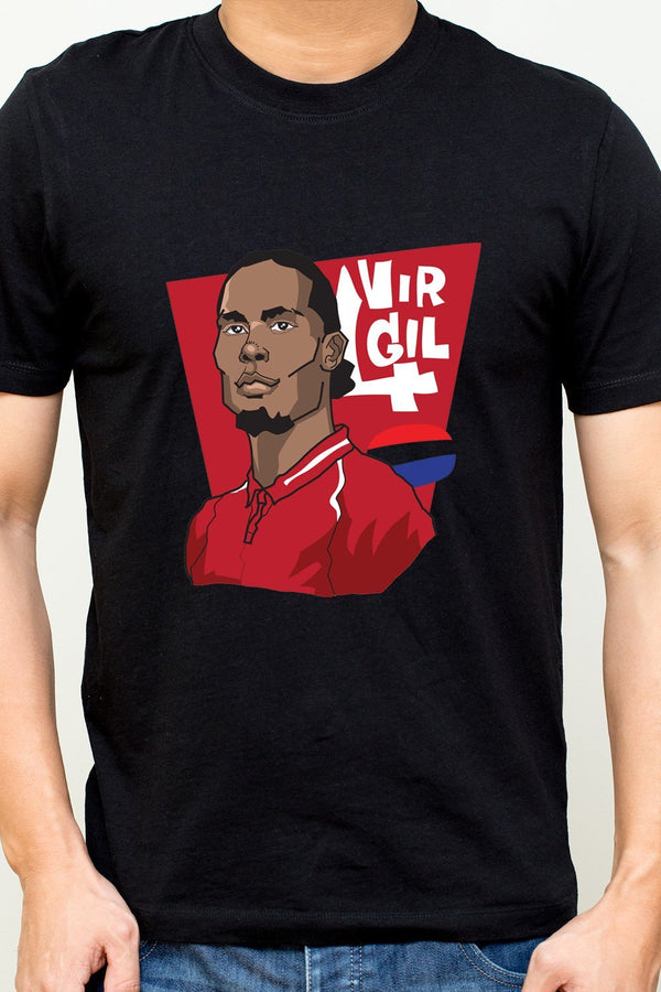 Virgil Van Dijk - Liverpool And Netherlands National Team Footballer Casual T-Shirt