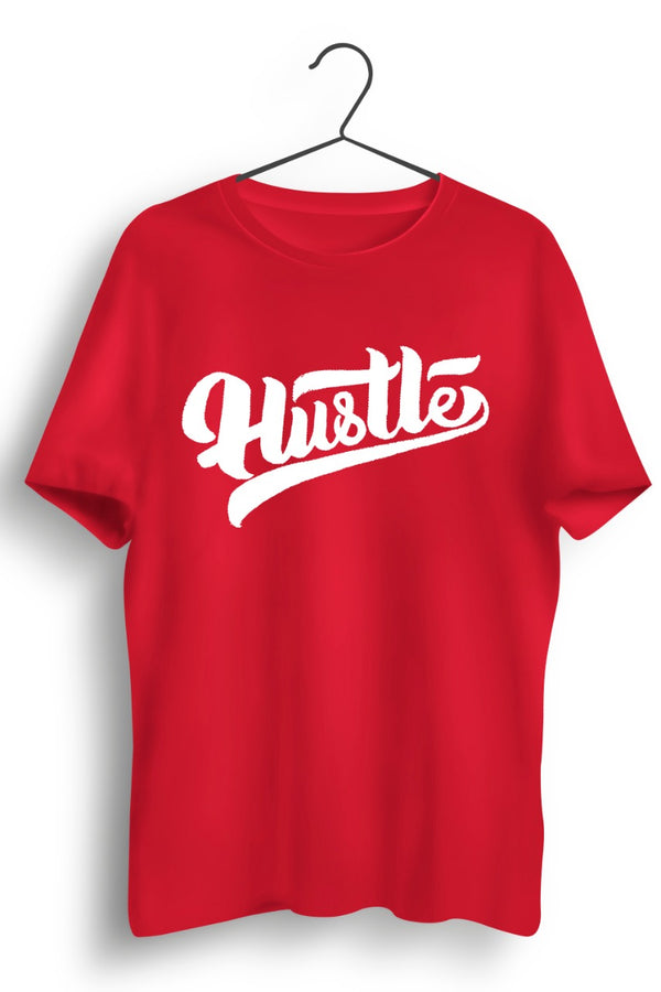 Hustle Red Cotton Tshirt