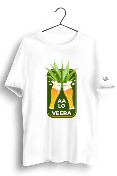 Aa Lo Veera Graphic Printed White Tshirt
