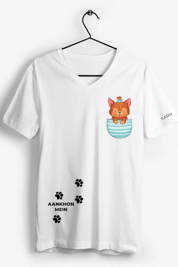 Aankhon Mein Graphic Printed White Tshirt