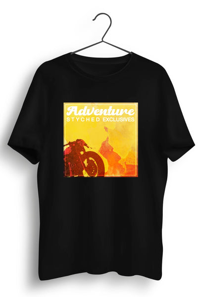 Adventure Styched Exclusives Black Tshirt