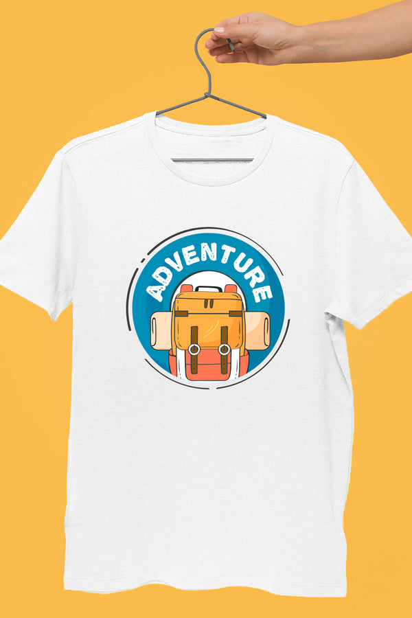 Adventure Travel White Tshirt