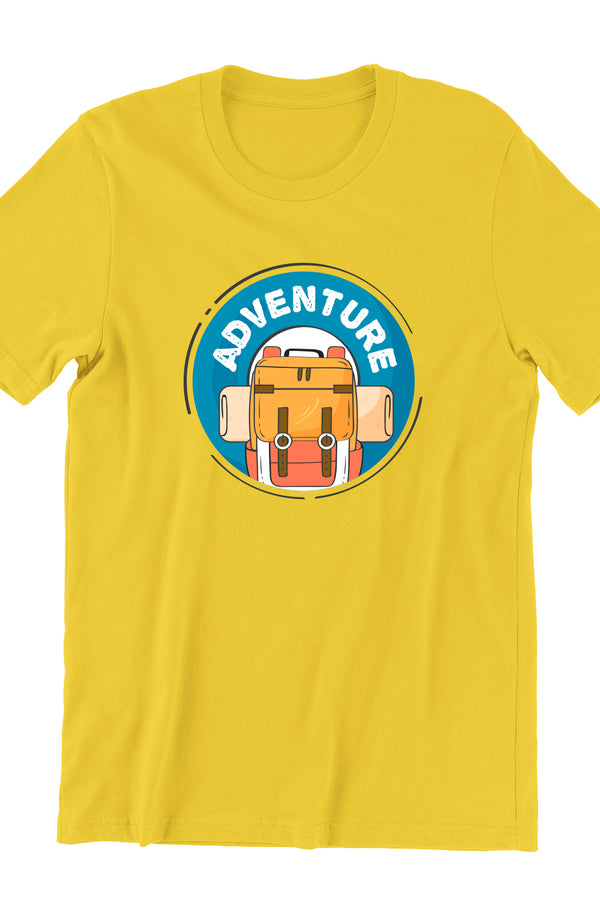 Adventure Travel Yellow Tshirt