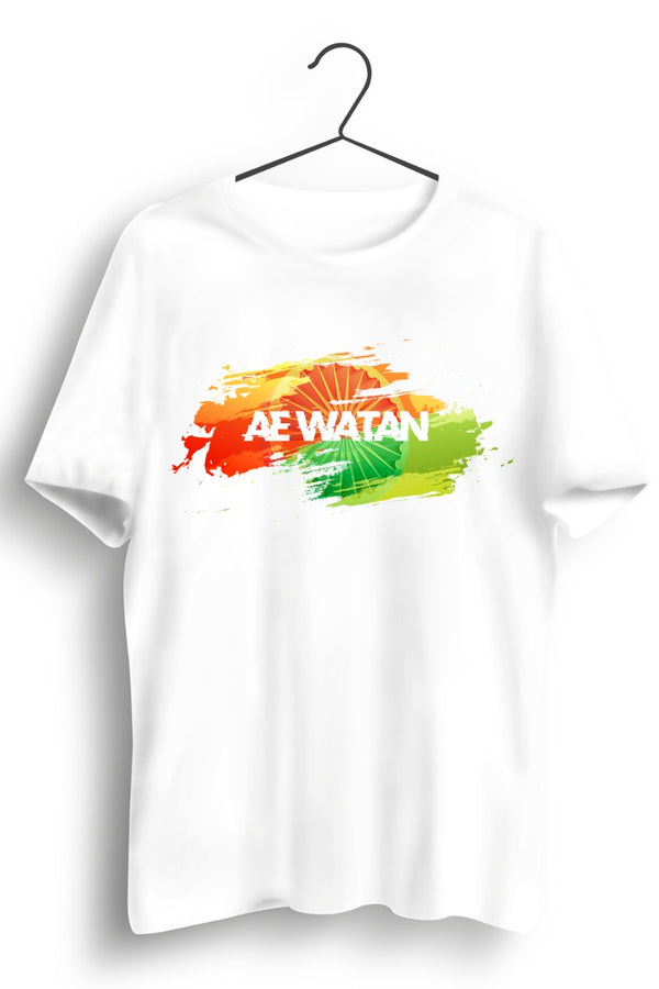 Ae Watan Graphic Printed White Tshirt