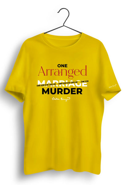 One Arranged Murder Graphic Printed Yellow Tshirt