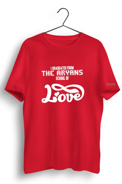 Aryans School Of Love Red Tshirt