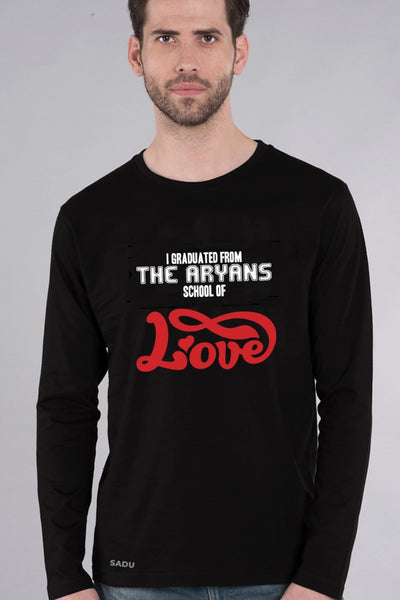 Aryans School Of Love Black Full Sleeve Tshirt