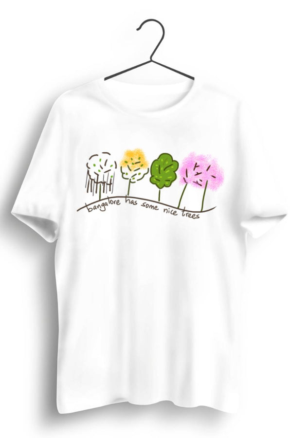 Bangalore Trees Graphic Printed White Tshirt