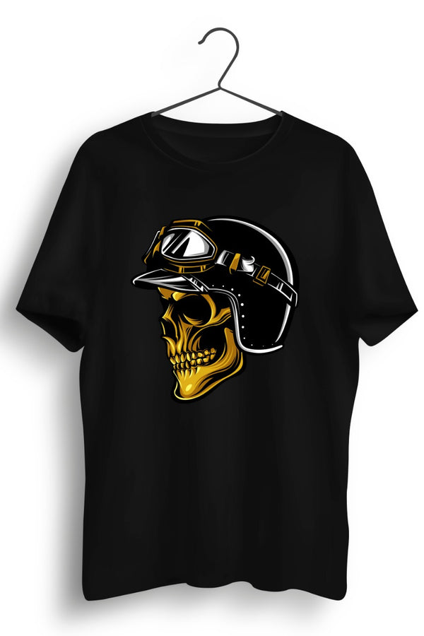 Skull Pilot Side Black Tshirt