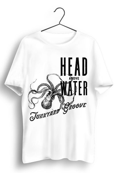 Head Above Water Black Octopus Print