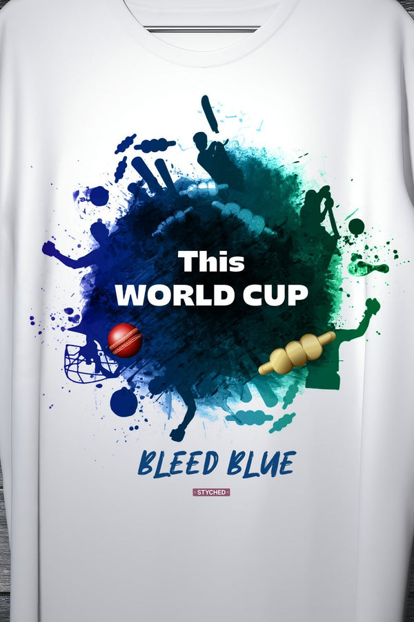 Bleed Blue - World Cup Cricket 2019 India Team Support Tee