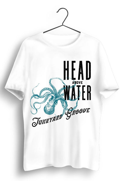 Head Above Water Blue Octopus Print