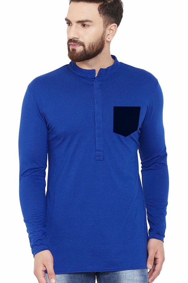Blue Full Sleeve with Black Pocket