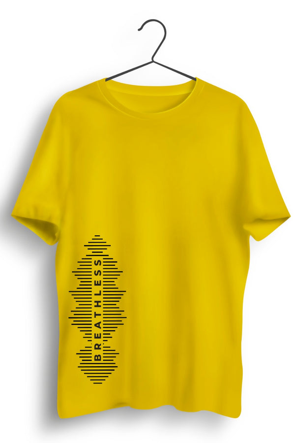 Breathless Graphic Printed Yellow Tshirt