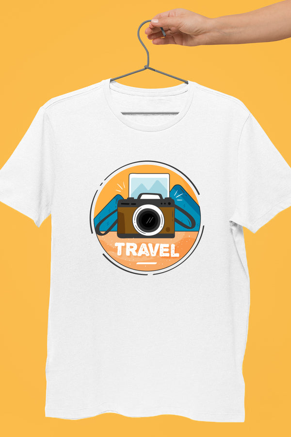 Camera Travel White Tshirt