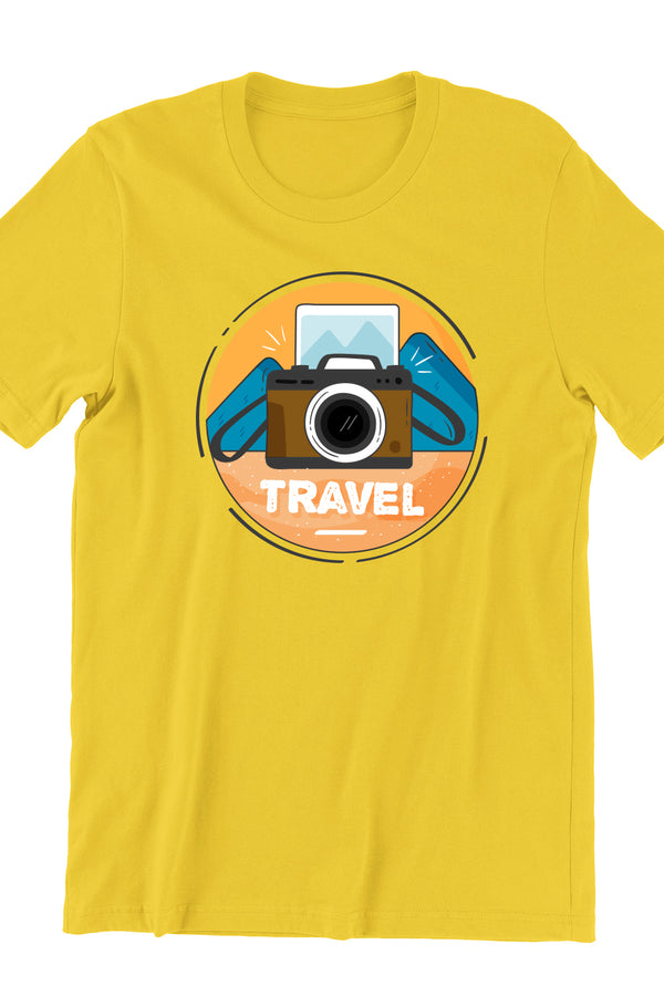 Camera Travel Yellow Tshirt