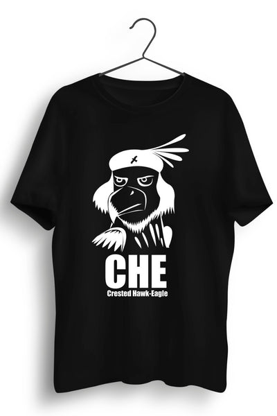 Crested Hawk Eagle CHE Black Tshirt