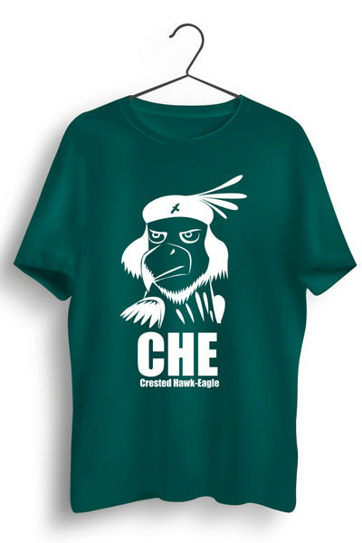 Crested Hawk Eagle CHE Green Tshirt