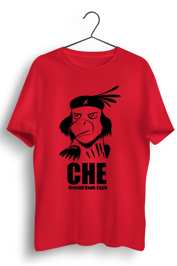 Crested Hawk Eagle CHE Red Tshirt