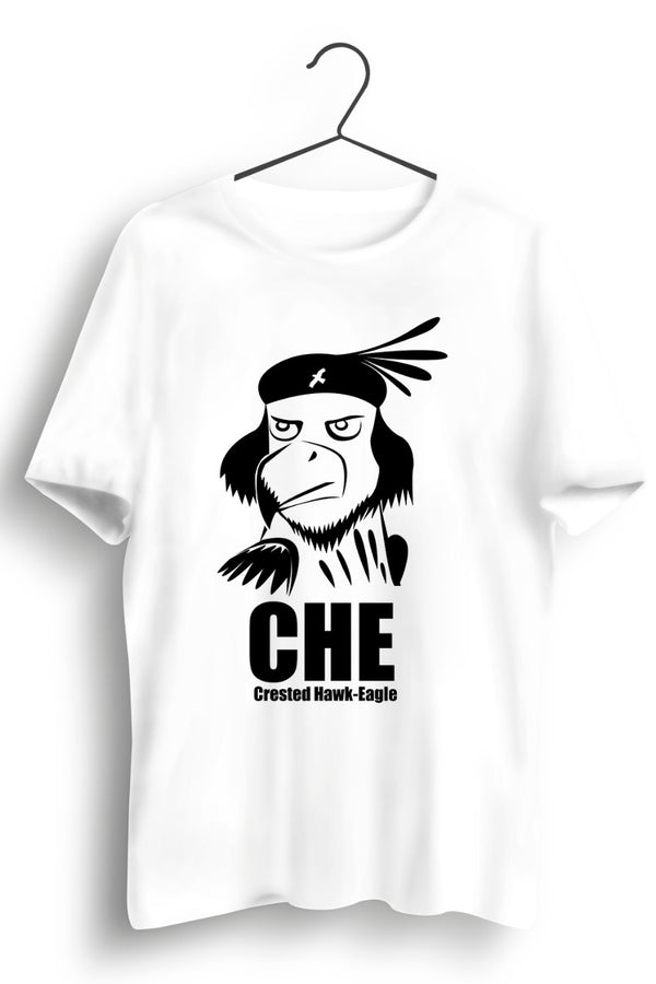 Crested Hawk Eagle CHE White Tshirt