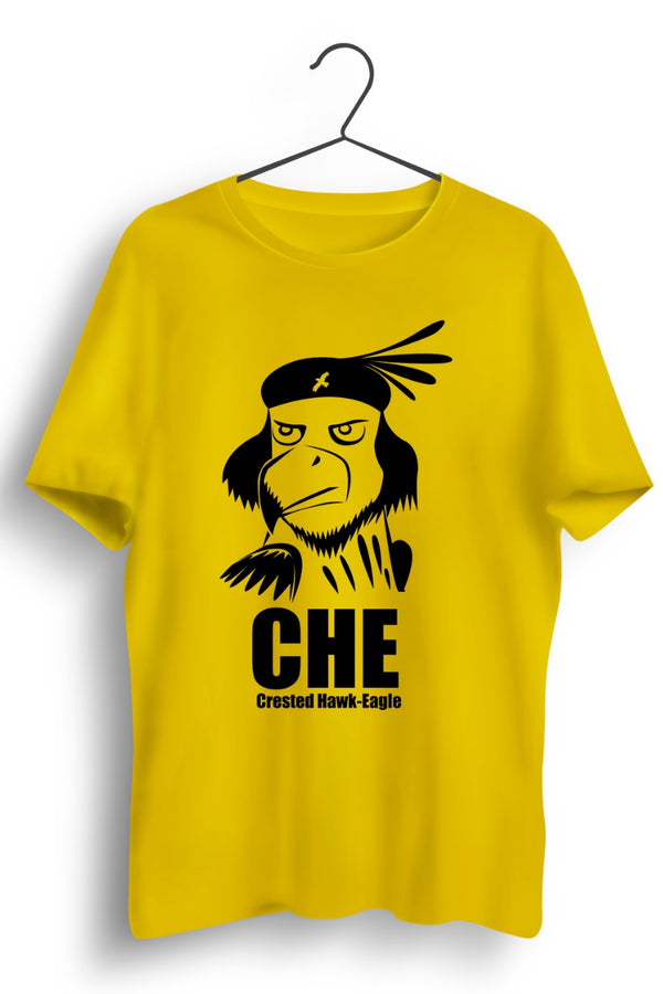 Crested Hawk Eagle CHE Yellow Tshirt