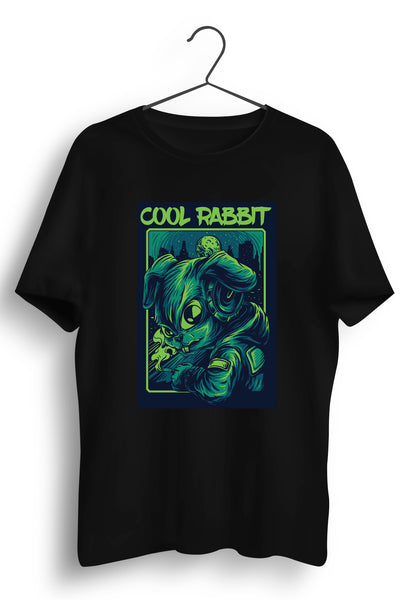 Cool Rabbit Graphic Printed Black Tshirt