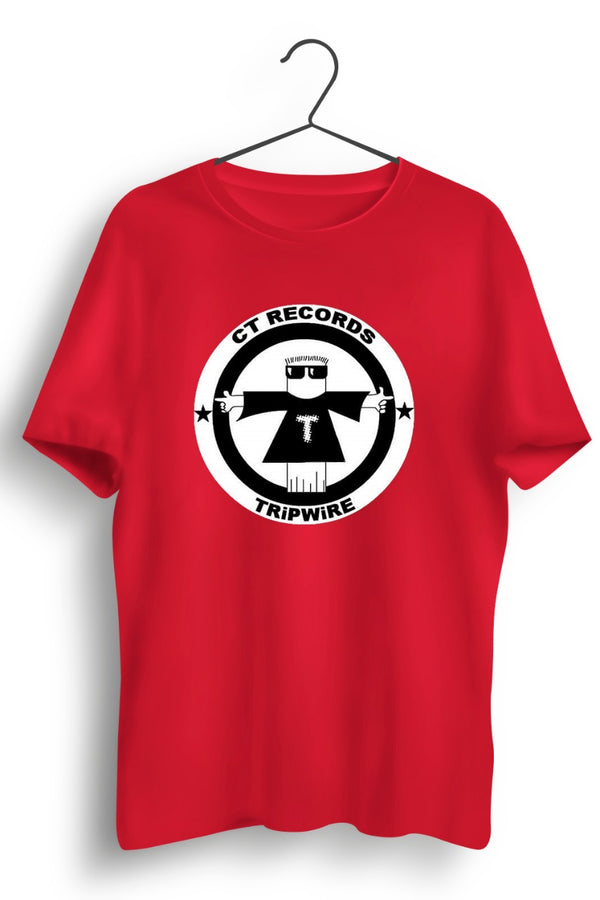 CT Records Graphic Printed Red Tee