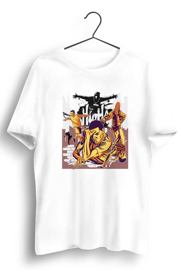 Hip Hop Graphic Printed White Unisex Tshirt