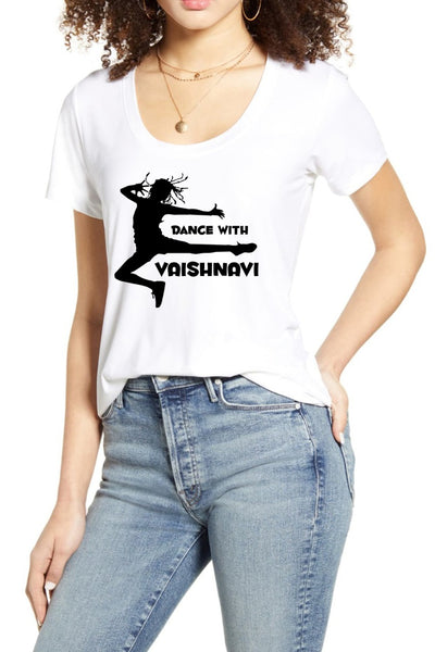 Dance With Vaishnavi White Tee