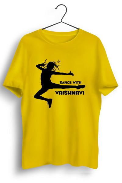 Dance With Vaishnavi Yellow Tee