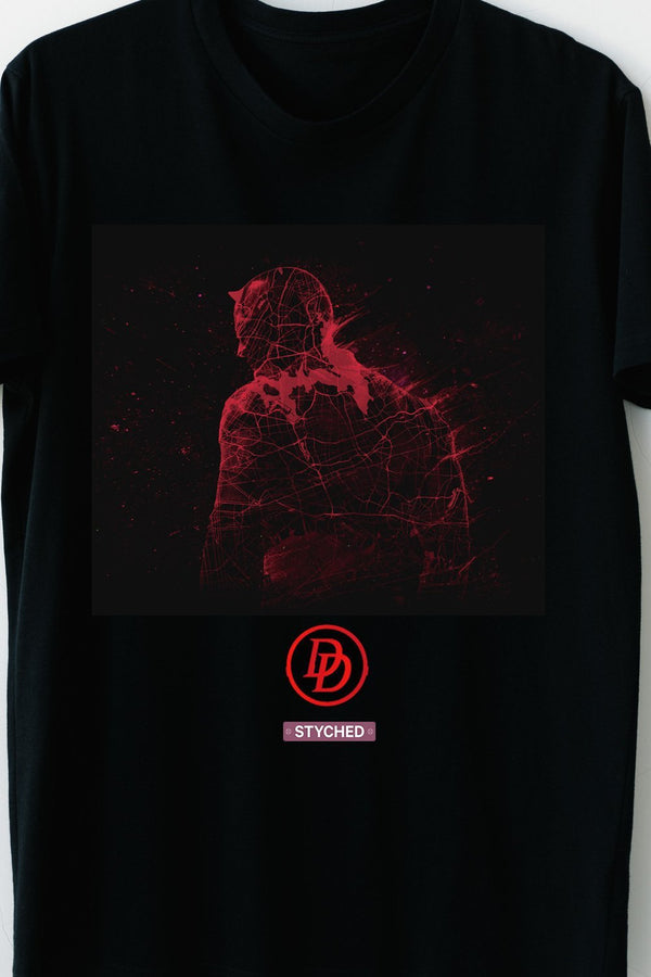 Daredevil - Red Inked Block Printed TShirt