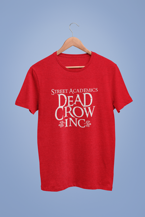 Dead Crow Inc Graphic Red Tshirt