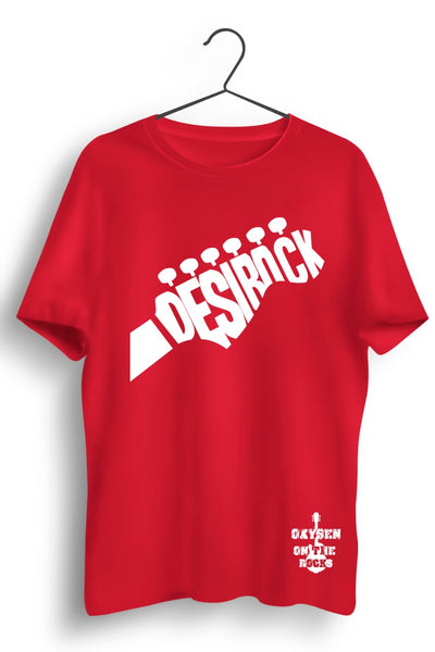 Desi Rock Printed Red Tshirt