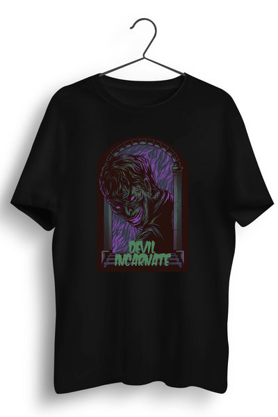 Devil Incarnate Graphic Printed Black Tshirt