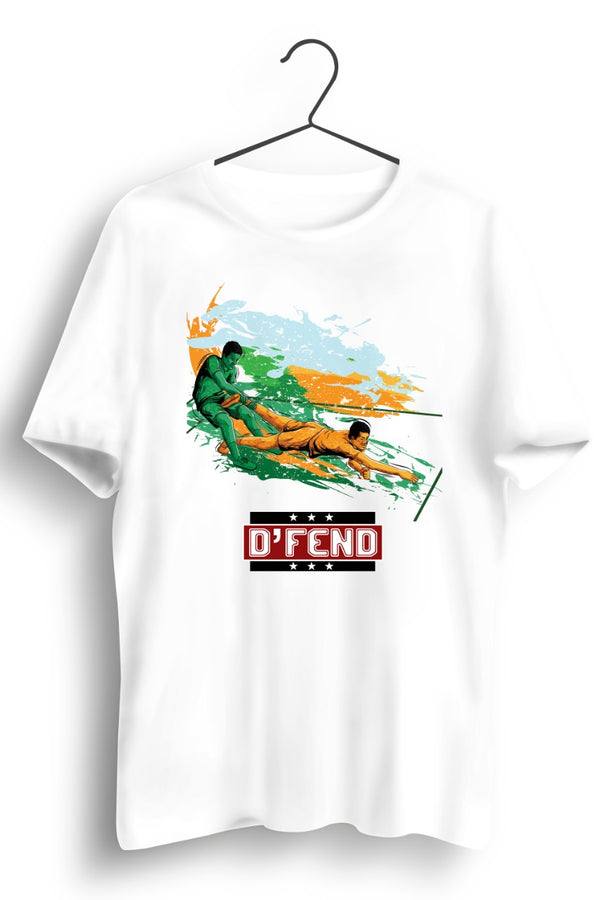 DFend - Tribute To Our Defenders White Tshirt