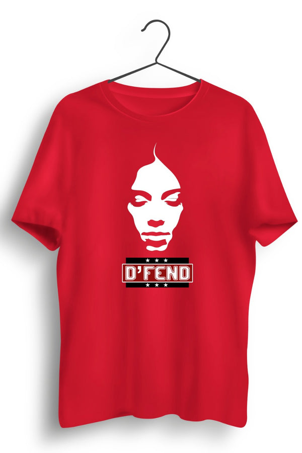 DFend - Womens Honour Red Tshirt