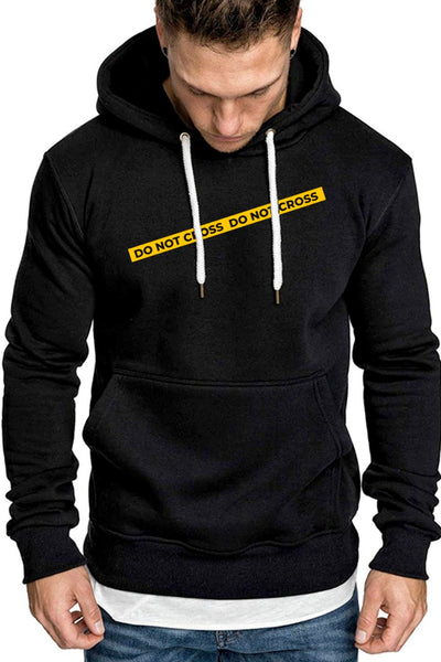 Do Not Cross Premium Black Non Zipper Hoodie