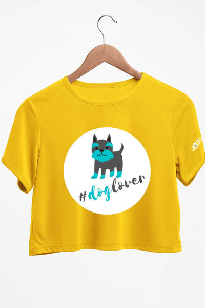 Dog Lover Yellow Crop Top