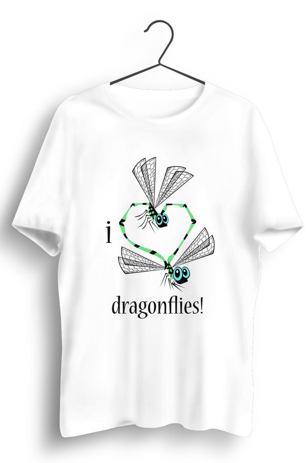 I Love Dragonflies White Tshirt