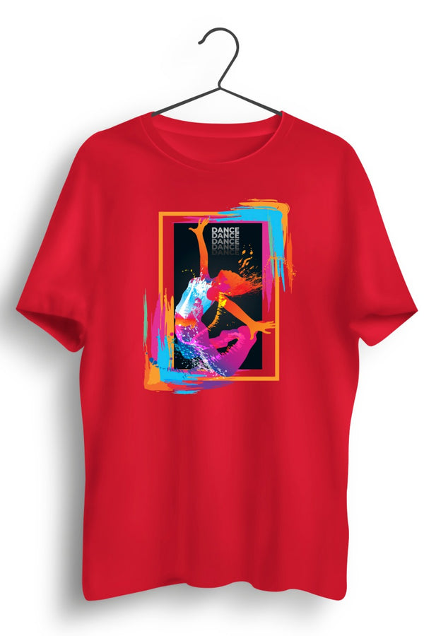 Dance Sets You Free! Graphic Red Tshirt