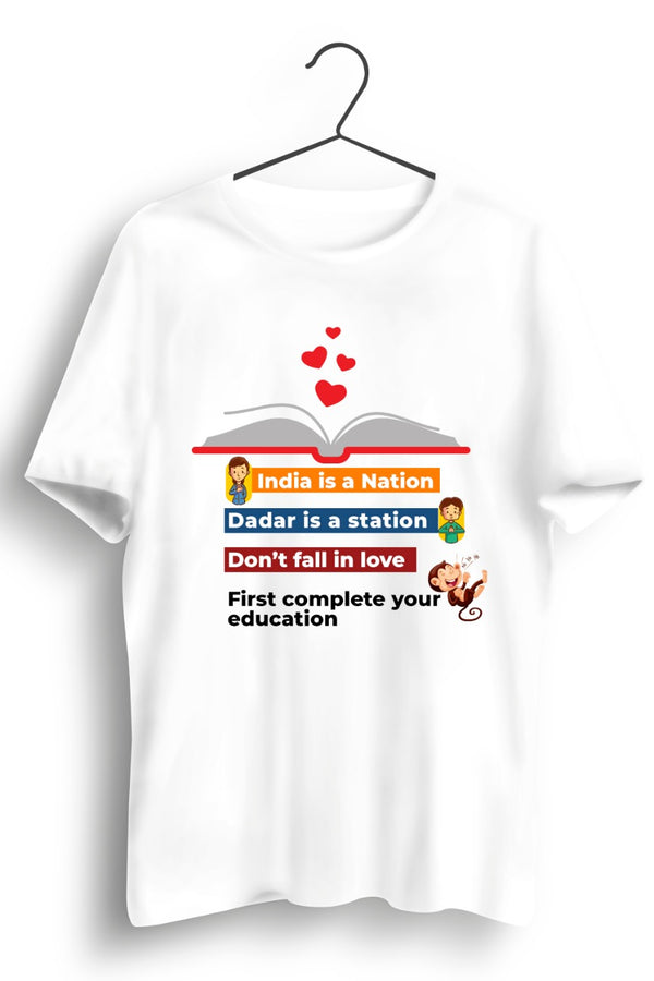 Education White Tshirt