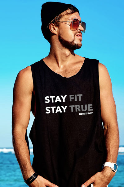 Stay Fit Stay True Black Vest