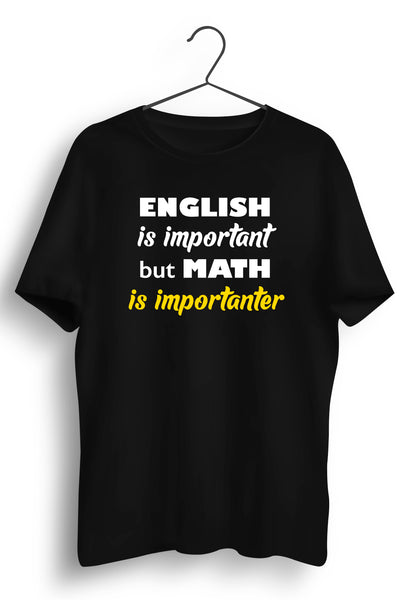 Math Is Importanter Black Tshirt